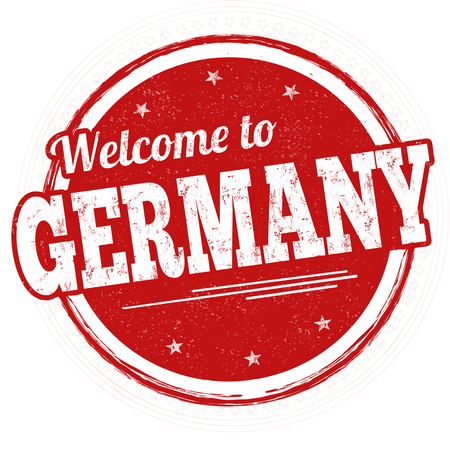 Welcome to Germany sign or stamp on white background, vector illustration