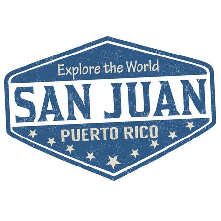San Juan sign or stamp on white background, vector illustration