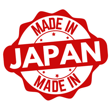 Made in Japan sign or stamp on white background, vector illustration