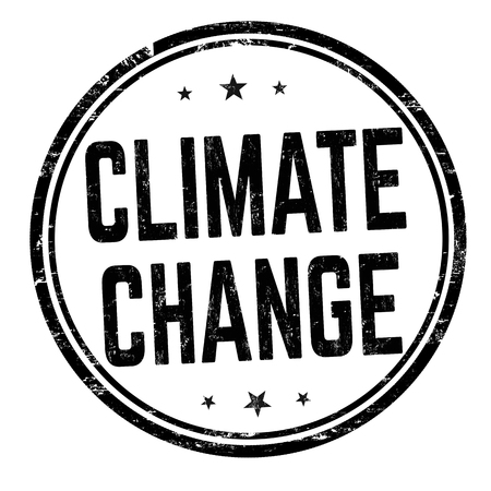 Climate change sign or stamp on white background, vector illustration Vettoriali