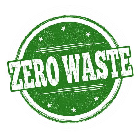 Zero waste sign or stamp on white background, vector illustration Illusztráció