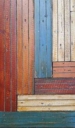 Background of aged painted wood. Colorful wood background
