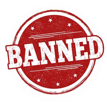 Banned sign or stamp on white background, vector illustration