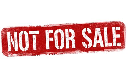 Not for sale sign or stamp on white background, vector illustration