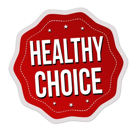 Healthy choice label or sticker on white background, vector illustration
