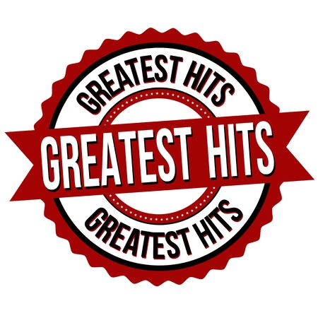 Greatest hits sign or stamp on white background, vector illustration Çizim