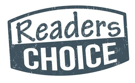 Readers choice sign or stamp on white background, vector illustration