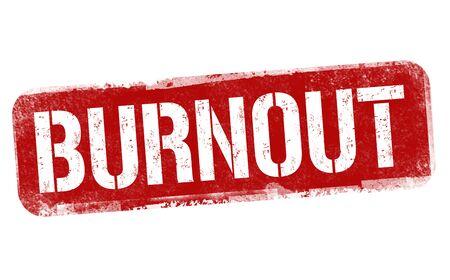 Burnout sign or stamp on white background, vector illustration