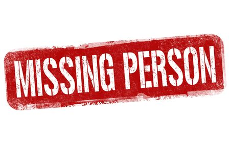 Missing person sign or stamp on white background, vector illustration