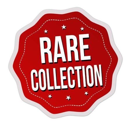 Rare collection label or sticker on white background, vector illustration