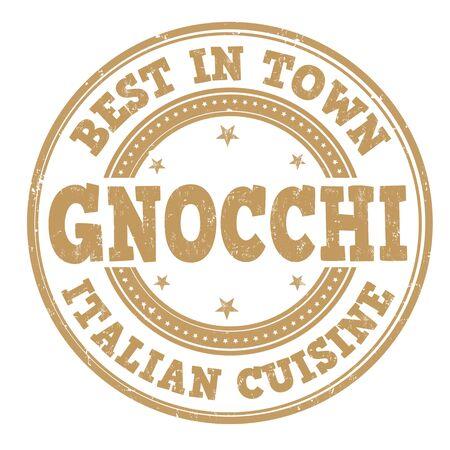 Gnocchi sign or stamp on white background, vector illustration Stock Illustratie