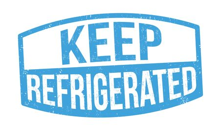 Keep refrigerated sign or stamp on white background, vector illustration Иллюстрация