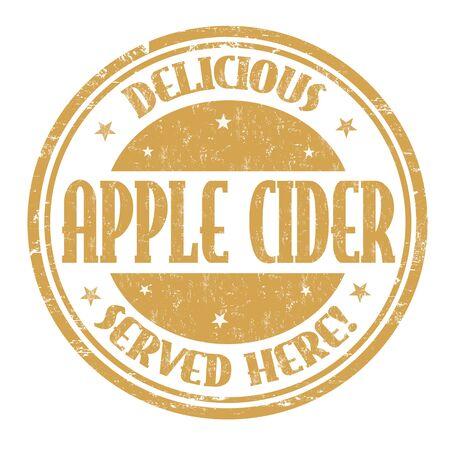 Apple cider sign or stamp on white background, vector illustration