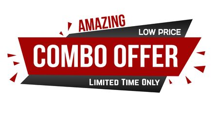 Amazing combo offer banner design on white background, vector illustration 向量圖像