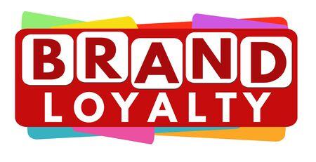 Brand loyalty banner design on white background, vector illustration
