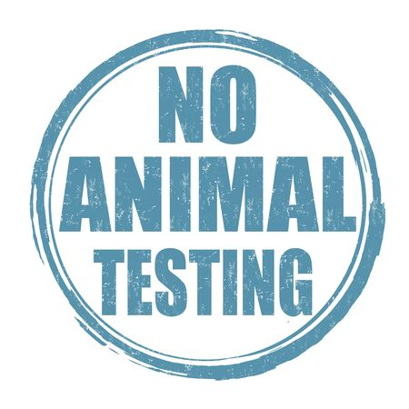 No animal testing sign or stamp on white background, vector illustration