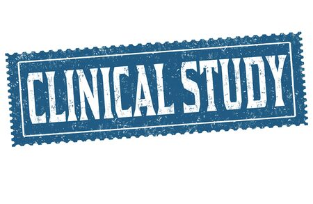 Clinical study grunge rubber stamp on white, vector illustration Illustration