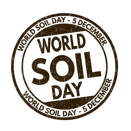 World soil day sign or stamp on white background, vector illustration Ilustração