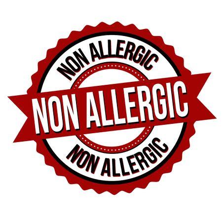 Non allergic label or sticker on white background, vector illustration
