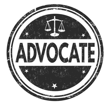 Advocate grunge rubber stamp on white, vector illustration