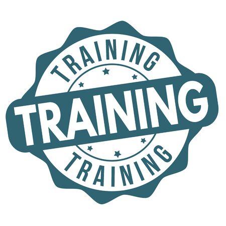 Training rubber stamp on white background, vector illustration