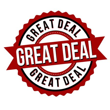 Great deal label or sticker on white background, vector illustration