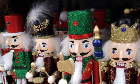 Traditional Christmas wooden Nutcrackers  Banco de Imagens