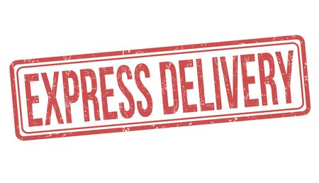 Express delivery sign or stamp on white background, vector illustration