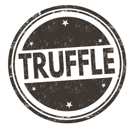 Truffle sign or stamp on white background, vector illustration