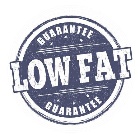 Low fat sign or stamp on white background, vector illustration Ilustração
