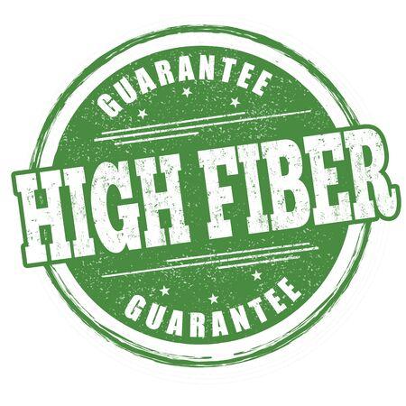 High fiber sign or stamp on white background, vector illustration Ilustração
