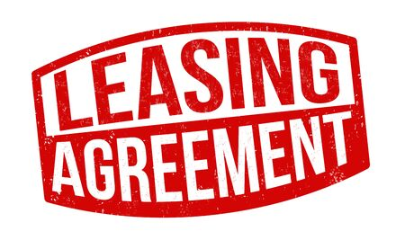 Leasing agreement sign or stamp on white background, vector illustration Illusztráció