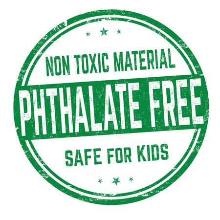Phthalate free sign or stamp on white background, vector illustration  イラスト・ベクター素材