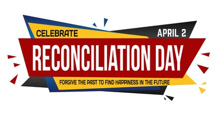 Reconciliation day banner design on white background, vector illustration Illustration