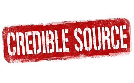 Credible source sign or stamp on white background, vector illustration Vektoros illusztráció