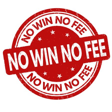No win no fee grunge rubber stamp on white background, vector illustration