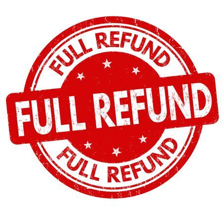 Full refund sign or stamp on white Ilustração Vetorial