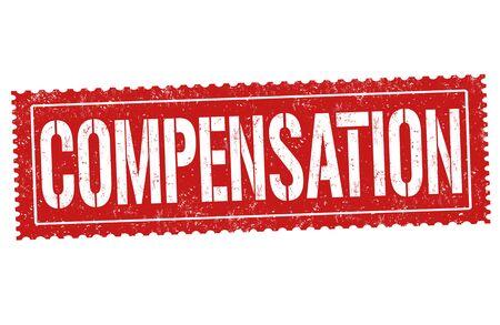 Compensation sign or stamp on white background, vector illustration