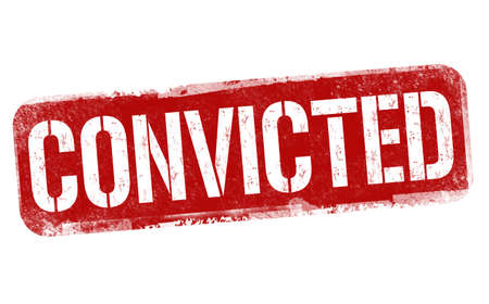 Convicted sign or stamp on white background, vector illustration Çizim