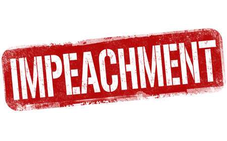 Impeachment sign or stamp on white background, vector illustration