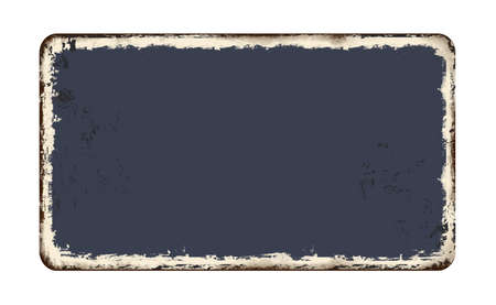 Blanked vintage rusty metal plate on a white background, vector illustration