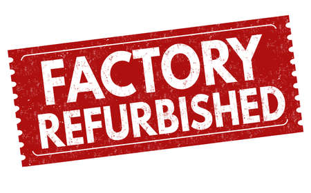 Factory refurbished sign or stamp on white background, vector illustration
