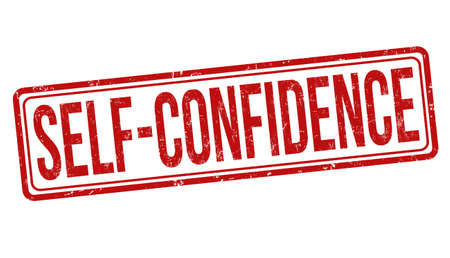 Self-confidence sign or stamp on white background, vector illustration 일러스트