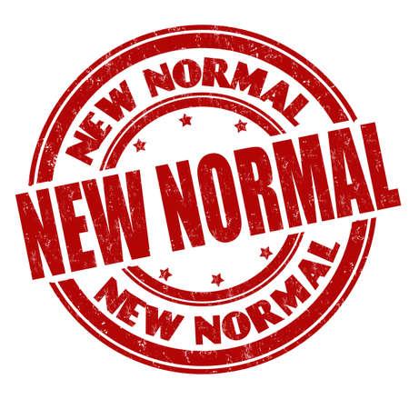 New normal grunge rubber stamp on white background, vector illustration Vettoriali