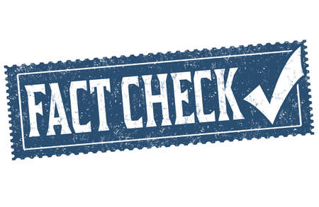 Fact check grunge rubber stamp on white background, vector illustration
