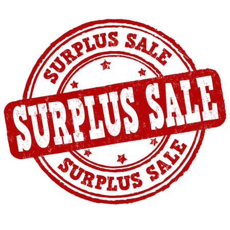 Surplus sale grunge rubber stamp on white background, vector illustration Vector Illustration