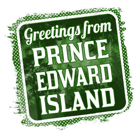 Greetings from Prince Edward Island grunge rubber stamp on white background, vector illustration Vector Illustration