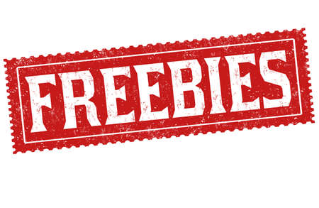 Freebies grunge rubber stamp on white background, vector illustration