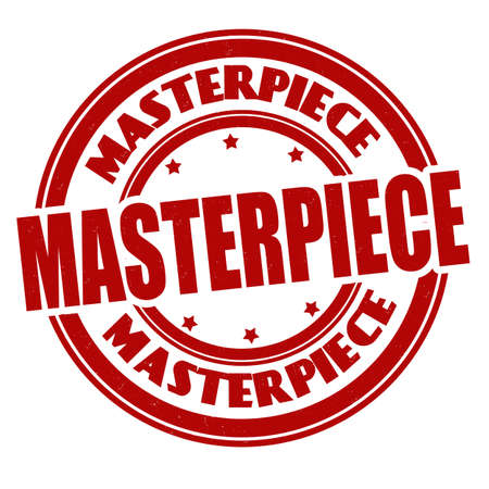 Masterpiece grunge rubber stamp on white background, vector illustration