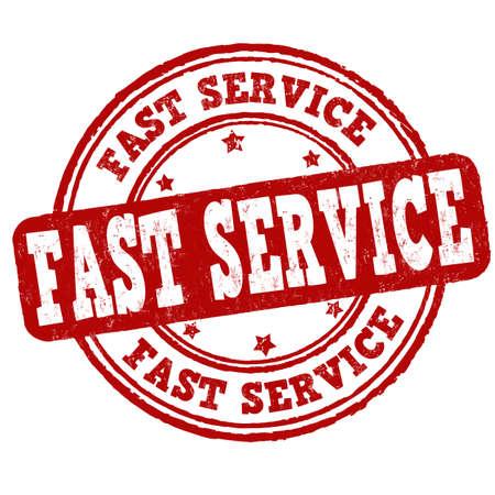 Fast service grunge rubber stamp on white background, vector illustration